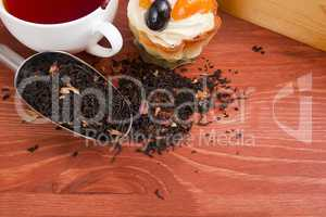 Sspoon for packaging industrial bulk materials with leaf tea
