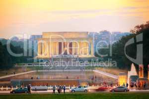 Abraham Lincoln memorial in Washington, DC
