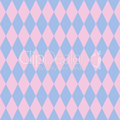 Rose quartz and serenity rhombus backdrop. Vector illustration. Seamless pattern.