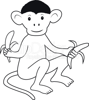 Monkey with bananas