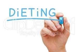 Dieting Blue Marker