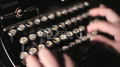 old typewriter writer