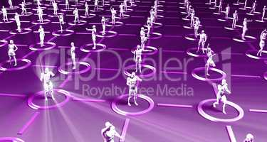 Crowd of 3D Figures