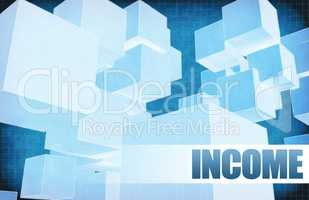 Income on Futuristic Abstract