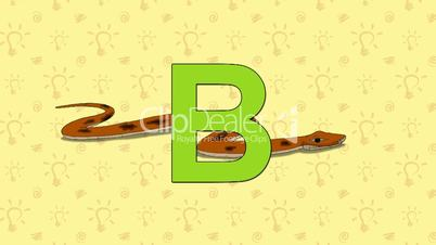 Boa. English ZOO Alphabet - letter B