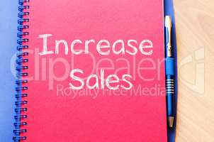 Increase sales write on notebook