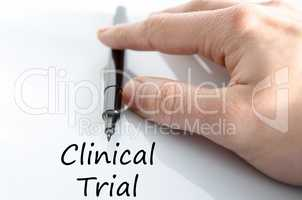 Clinical trial text concept