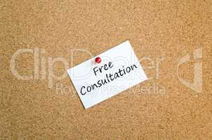 Sticky Note concept free consultation