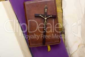 Catholic Bible bound in leather