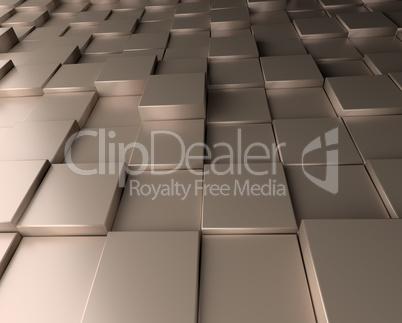 Aluminum cubes background