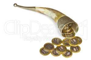 "Symbolical ""horn of plenty"" from antique myths."