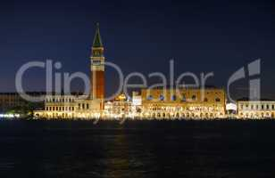 Panoramic overview of San Marco square in Venice