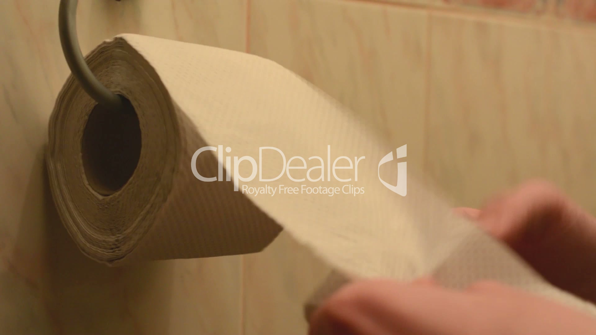 hand (young man) take toilet paper on the toilet: Royalty-free video ...