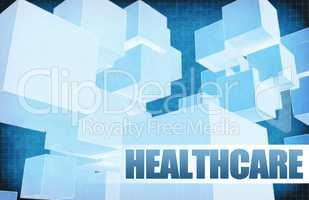 Healthcare on Futuristic Abstract