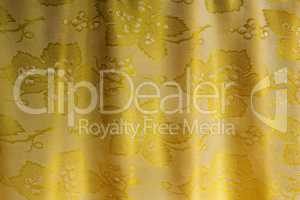 The silk fabric which has been beautifully draped in the form of