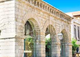 The old building of the Venetian loggia in Rethymnon, Crete.