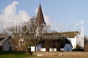 Kirche in Nebel auf Amrum