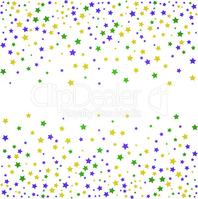 Mardi Gras background with stars. Vector illustration.