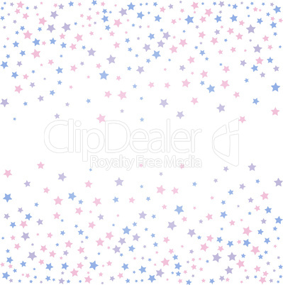 Background with stars. Rose quarts and serenity colors.