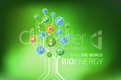Ecology Infographic. Bio Energy