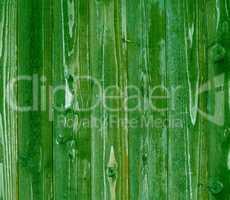 Grüne Holzbretter