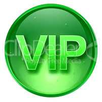 VIP icon green, isolated on white background.