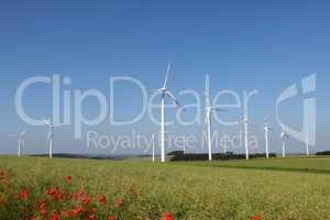 Windmill generator in wide yard