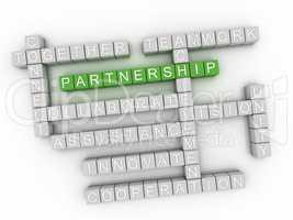 3d image Partnership word cloud concept