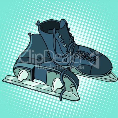 Men skates winter sports