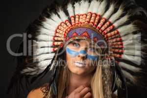 Portrait einer Indianerin