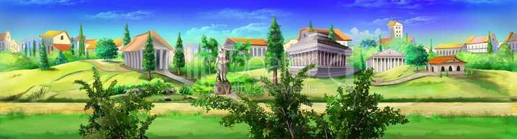 Ancient Rome panorama