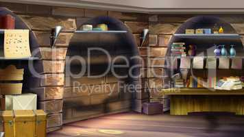 Castle room interior