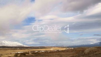 Time lapse of impressive landscape in the north of Iceland