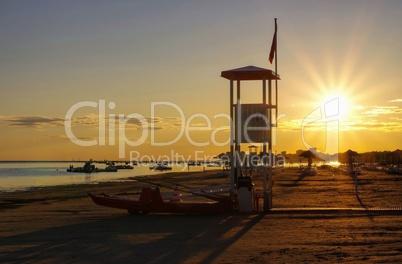 Grado Strand Sonnenuntergang - Grado beach sunset 01
