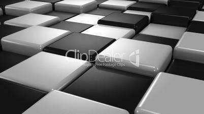 Abstract Background of White and Black Cubes