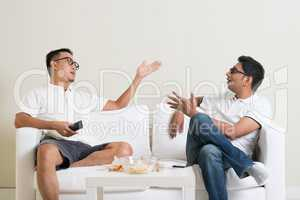 Male friends arguing