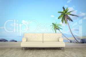 photo wall mural palm beach sofa floor