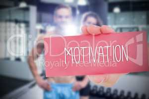 Motivation against people background