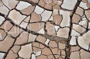 Erodierter Lehmboden