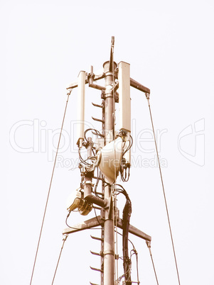 Telecommunication aerial tower vintage