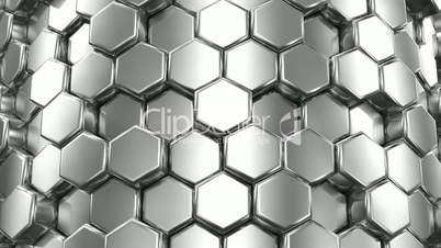 Abstract Background of Silver Honeycombs