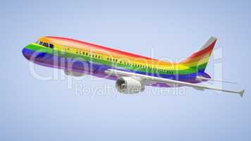 Airplane Rainbow Colours
