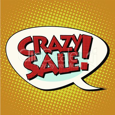 crazy sale comic bubble lettering