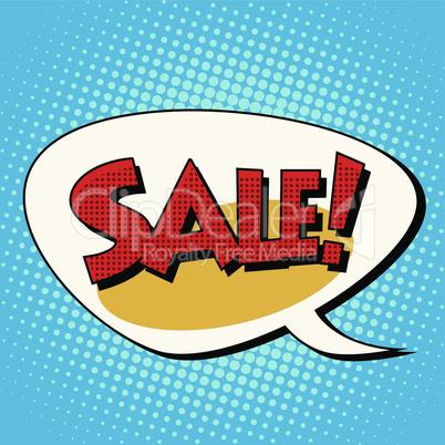 Sale comic book bubble