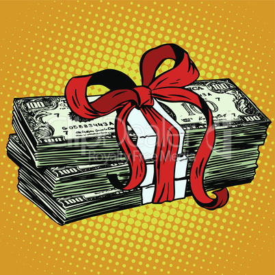 Money as a gift charity and donation