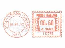Postage meter stamp vintage