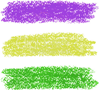 Vector Mardi Gras pastel crayon brush strokes