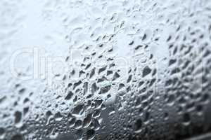 Closeup of humidity at a window