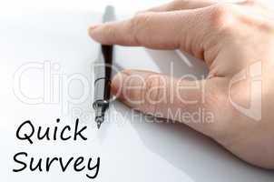 Quick survey text concept