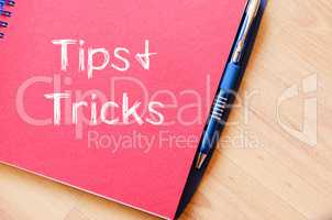 Tips and tricks write on notebook